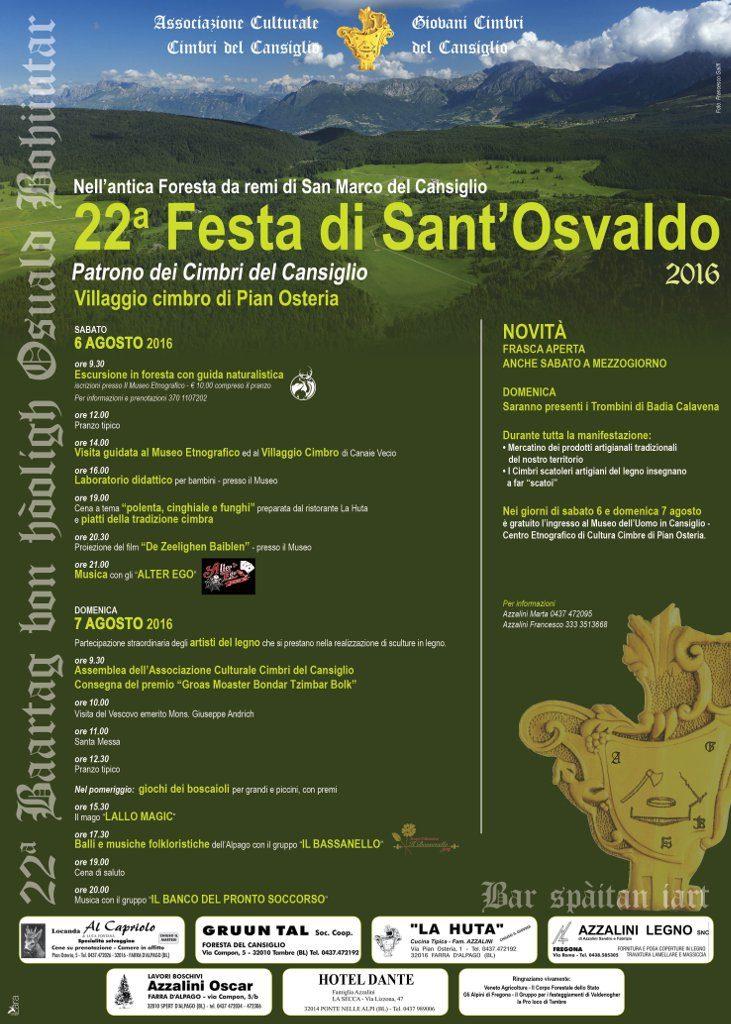 Manifesto 22^ Festa di Sant'Osvaldo